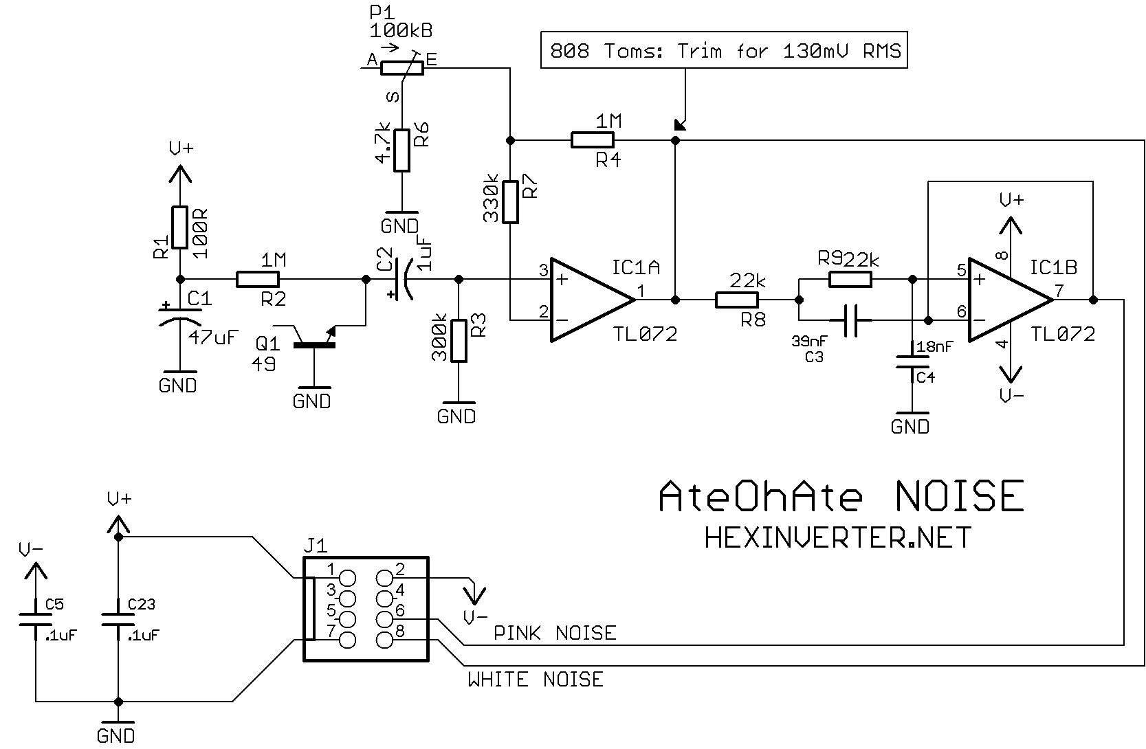 Trying to make diy white/pink noise generator work - Tech ...