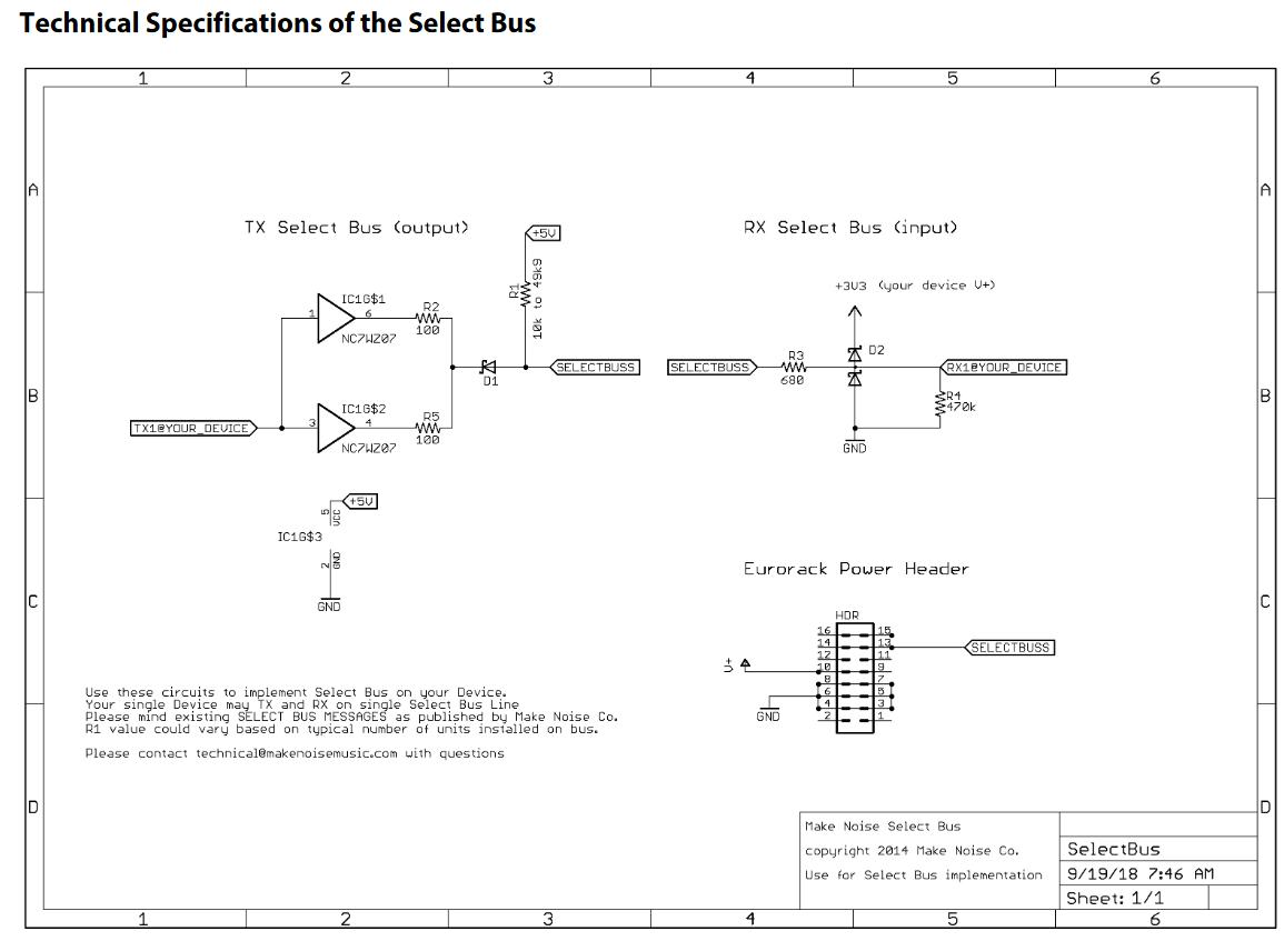 Teletype I2C -> Select Bus bridge - Monome - lines